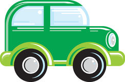Go Car. A vector illustration of a mini green car Royalty Free Stock Photo