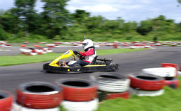 Go cart cars at the start line Royalty Free Stock Photography