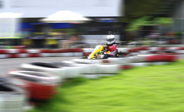 Go cart cars at the start line Royalty Free Stock Photo