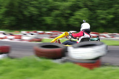 Go cart cars at the start line Royalty Free Stock Photos