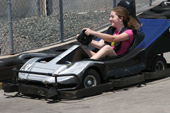 Go Cart Girl Royalty Free Stock Image