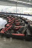 Go-cart in indoor stadium Royalty Free Stock Images