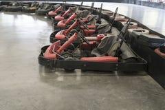 Go-cart in indoor stadium Stock Image