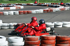 Go cart race Royalty Free Stock Image