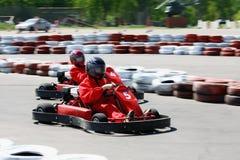 Go cart race Royalty Free Stock Photos