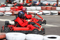 Go cart race Royalty Free Stock Photos