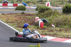 Go cart race Stock Photography