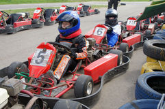 Go-cart racing Royalty Free Stock Photo