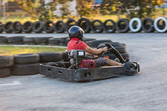Go-cart racing Stock Image