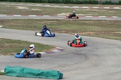 Go cart racing. Speed fun Royalty Free Stock Image