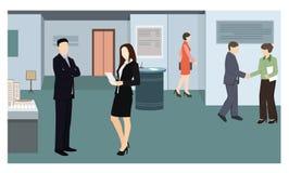 Goście powystawowa mieszkanie stylu ilustracja royalty ilustracja