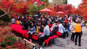 goście przy Eikando ogródem, Kyoto Zdjęcia Royalty Free