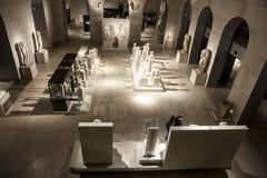 Goście przy Krajowym Archeological muzeum Madryt Obrazy Royalty Free