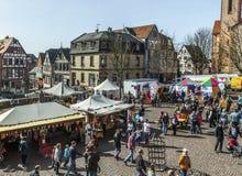Goście przy 24th Barbarossamarkt festiwalem w Gelnhausen Fotografia Royalty Free