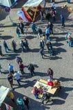 Goście 24th Barbarossamarkt festiwal w Gelnhausen Zdjęcia Royalty Free