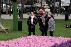 GOŚCIE W TIVOLI ogródzie NA dniach otwarcia Obrazy Royalty Free