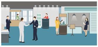 Goście wystawa ilustracja wektor