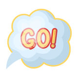 Go in the cloud.Fans single icon in cartoon style rater,bitmap symbol stock illustration. Stock Images