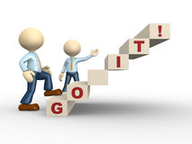 Go it. 3d people - man, person with text GO IT Royalty Free Stock Images