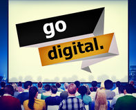 Go Digital Modern Latest Technology Upgrade Concept Stock Images