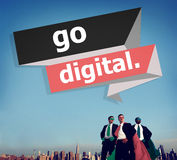 Go Digital Modern Latest Technology Upgrade Concept Stock Photography