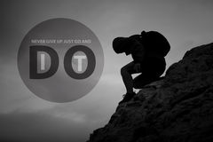 Go and do it conceptual poster Royalty Free Stock Photos