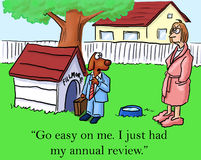 Go easy on me. I just had my annual review stock illustration