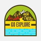Go explore,travel badges,see the world Royalty Free Stock Photos