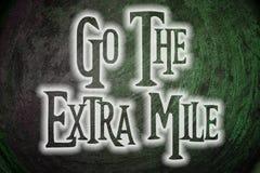 Go The Extra Mile Concept Stock Photos