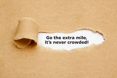 Go The Extra Mile Its Never Crowded Stock Image