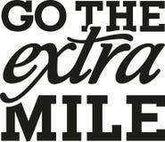 Go the extra mile - motivational saying royalty free illustration