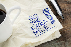 Go the extra mile Stock Images
