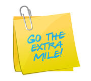 Go the extra mile post illustration design Stock Photography