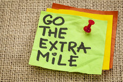 Go the extra mile reminder Royalty Free Stock Photography