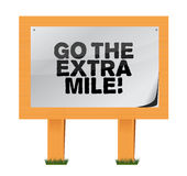 Go the extra mile wood sign illustration. Design over white Royalty Free Stock Photos