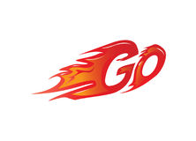 Go with flames illustration Stock Photography