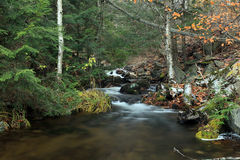 Go With The Flow. Small cascade on a river in Haliburton, Ontario stock images