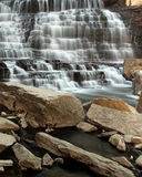 Go With The Flow. Cascade Waterfall and rocky gorge Stock Photos