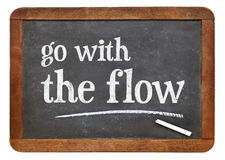 Go with the flow advice Stock Photography