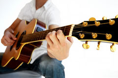 Go Folk - Perspective Acoustic Guitar Royalty Free Stock Image