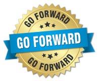 Go forward badge Royalty Free Stock Image