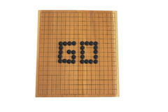Go game board. Game of go with white background Stock Images