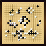 Go Game Gobang Gomoku Chinese Board Stock Photo