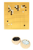 Go game in play. Of an ongoing lecture the game of go figure stock images
