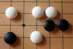 GO-Game with some gaming pieces Stock Photo