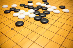 Go game or Weiqi Chinese board game Royalty Free Stock Photo