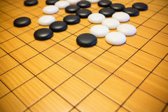 Go game or Weiqi Chinese board game. Background Royalty Free Stock Photos