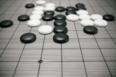 Go game or Weiqi Chinese board game. Background Royalty Free Stock Photography