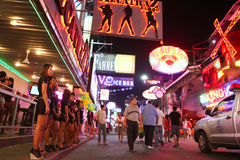 Go-Go bar on Walking Street in Pattaya Stock Photography