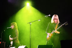 Go Go Berlin (band) live performance at Bime Festival Stock Photo